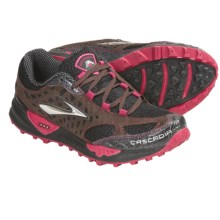 Brooks Cascadia 7 Trail Running Shoes (For Women) in Black/Shopping Bag/Cerise - Closeouts