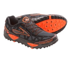 Brooks Cascadia 8 Trail Running Shoes (For Men) in Iron/Black/Shocking Orange/Red Orange - Closeouts
