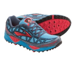 Brooks Cascadia 8 Trail Running Shoes (For Women) in Aquarius/Hibiscus/Bearing Sea/Black