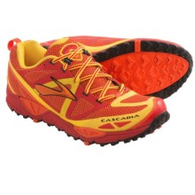 Brooks Cascadia 9 Trail Running Shoes (For Men) in High Risk Red/Orangeade/Lemon Chrome - Closeouts