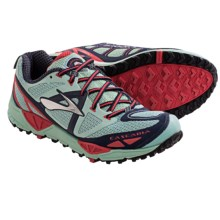 Brooks Cascadia 9 Trail Running Shoes (For Women) in Yucca/Obsidian/Hibiscus - Closeouts