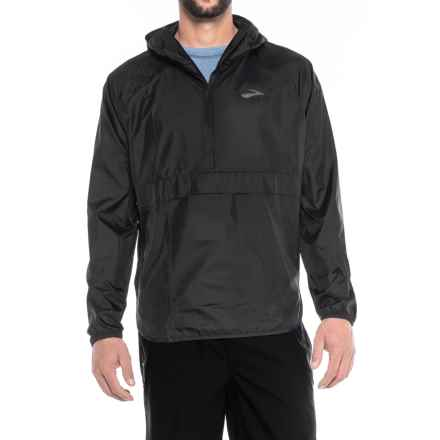 Brooks Cascadia Shell Jacket - Zip Neck (For Men) in Black - Closeouts