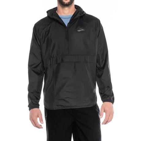 Brooks Cascadia Shell Jacket - Zip Neck (For Men) in Black