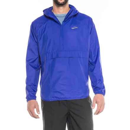 Brooks Cascadia Shell Jacket - Zip Neck (For Men) in Cobolt - Closeouts