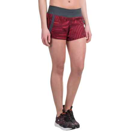 "Brooks Chase 3"" Running Shorts - Built-In Mesh Briefs (For Women) in Sangria Cosmo - Closeouts"