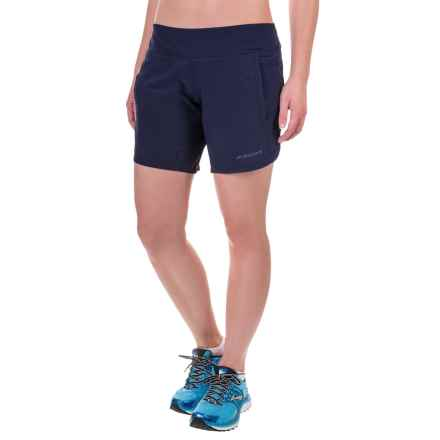 "Brooks Chaser 7"" Running Shorts - Built-In Mesh Briefs (For Women) in Navy - Closeouts"