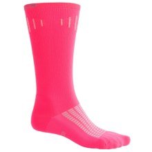 Brooks Compression Socks - Over-the-Calf (For Men and Women) in Bright Pink - Closeouts