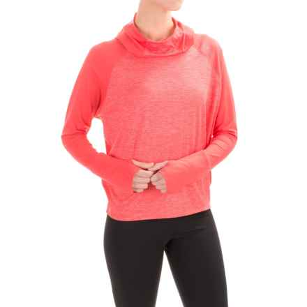 Brooks Dash Hooded Shirt - Long Sleeve (For Women) in Poppy/Heather Poppy - Closeouts