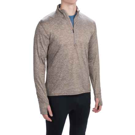 Brooks Dash Shirt - Zip Neck, Long Sleeve (For Men) in Heather Carb - Closeouts