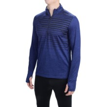 Brooks Dash Shirt - Zip Neck, Long Sleeve (For Men) in Heather Navy Macro - Closeouts