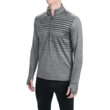 Brooks Dash Shirt - Zip Neck, Long Sleeve (For Men) in Heather Oxford Macro - Closeouts