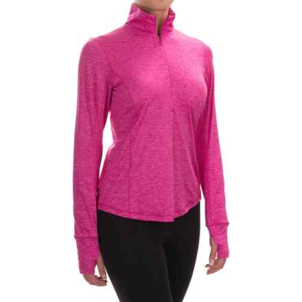 Brooks Dash Shirt - Zip Neck, Long Sleeve (For Women) in Heather Bloom - Closeouts
