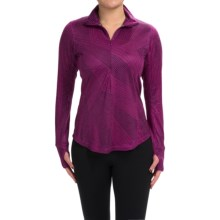 Brooks Dash Shirt - Zip Neck, Long Sleeve (For Women) in Heather Currant Big Sunshine - Closeouts