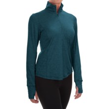 Brooks Dash Shirt - Zip Neck, Long Sleeve (For Women) in Heather River - Closeouts