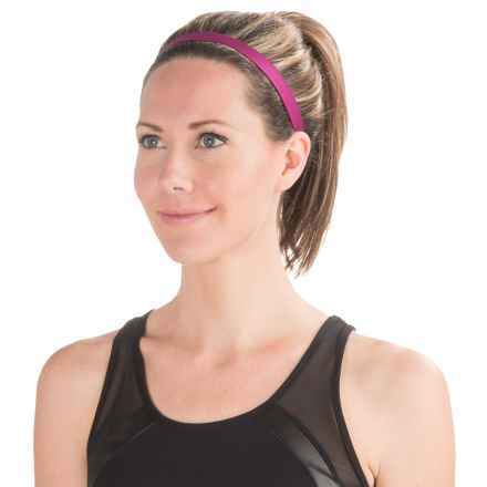 Brooks Distance Running Headband (For Women) in Currant - Closeouts