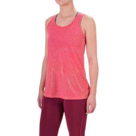 Brooks Distance Running Tank Top (For Women) in Heather Poppy/Sol Shine - Closeouts