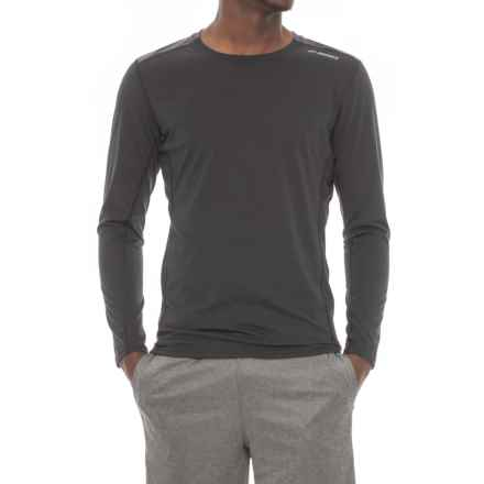 Brooks Distance Shirt - Long Sleeve (For Men) in Black/Heather Black - Closeouts