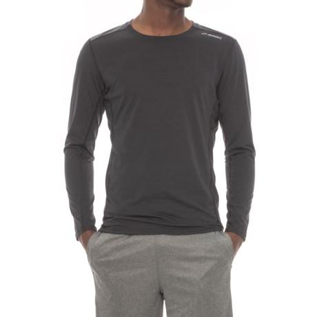Brooks Distance Shirt - Long Sleeve (For Men) in Black/Heather Black