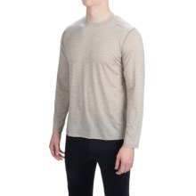 Brooks Distance Shirt - Long Sleeve (For Men) in Heather Carb - Closeouts