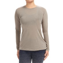 Brooks Distance Shirt - Long Sleeve (For Women) in Heather Carb - Closeouts