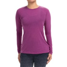 Brooks Distance Shirt - Long Sleeve (For Women) in Heather Currant - Closeouts