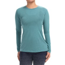 Brooks Distance Shirt - Long Sleeve (For Women) in Heather Kale - Closeouts