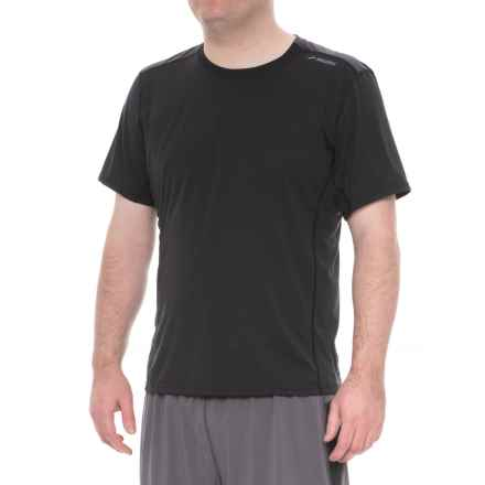Brooks Distance Shirt - Short Sleeve (For Men) in Black/Heather Black - Closeouts
