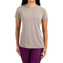 Brooks Distance Shirt - Short Sleeve (For Women) in Heather Carb - Closeouts