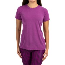 Brooks Distance Shirt - Short Sleeve (For Women) in Heather Currant - Closeouts