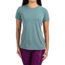 Brooks Distance Shirt - Short Sleeve (For Women) in Heather Kale - Closeouts