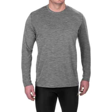 Brooks Distance Shirt - UPF 30+, Long Sleeve (For Men) in Heather Oxford - Closeouts