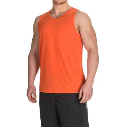 Brooks Distance Tank Top (For Men) in Heather Desert - Closeouts