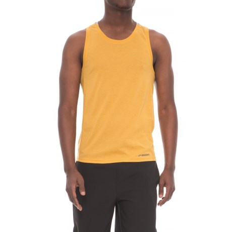 Brooks Distance Tank Top (For Men) in Heather Finch/Heather Sterling