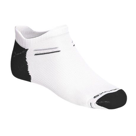 Brooks Double Tab Socks - 3-Pack (For Men and Women) in White/Black/Gail Grey