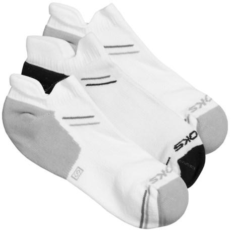 Brooks Double Tab Socks - 3-Pack (For Men and Women) in White/Black/Grey/Light Grey