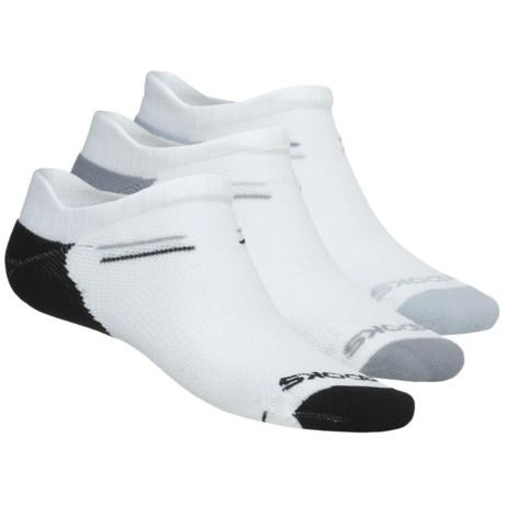 Brooks Double Tab Socks - 3-Pack (For Men and Women) in White W/Black/Light Grey/Grey