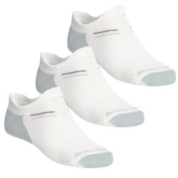Brooks Double Tab Socks - 3-Pack (For Women) in White/Pearl