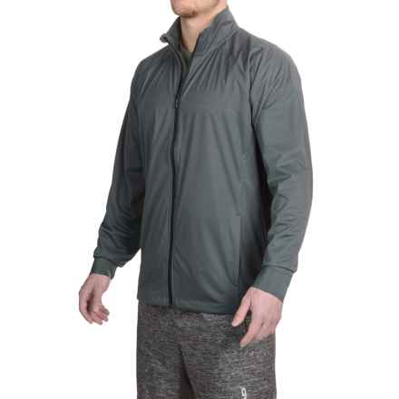 Brooks Drift Shell Jacket (For Men) in Asphalt/Asphalt Reflective Tan - Closeouts