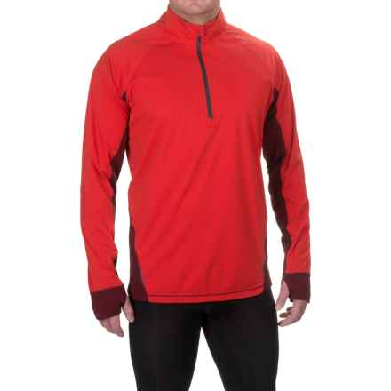 Brooks Drift Shirt - Zip Neck, Long Sleeve (For Men) in Lava/Root - Closeouts
