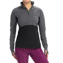 Brooks Drift Zip Neck Shirt - Long Sleeve (For Women) in Asphalt - Closeouts
