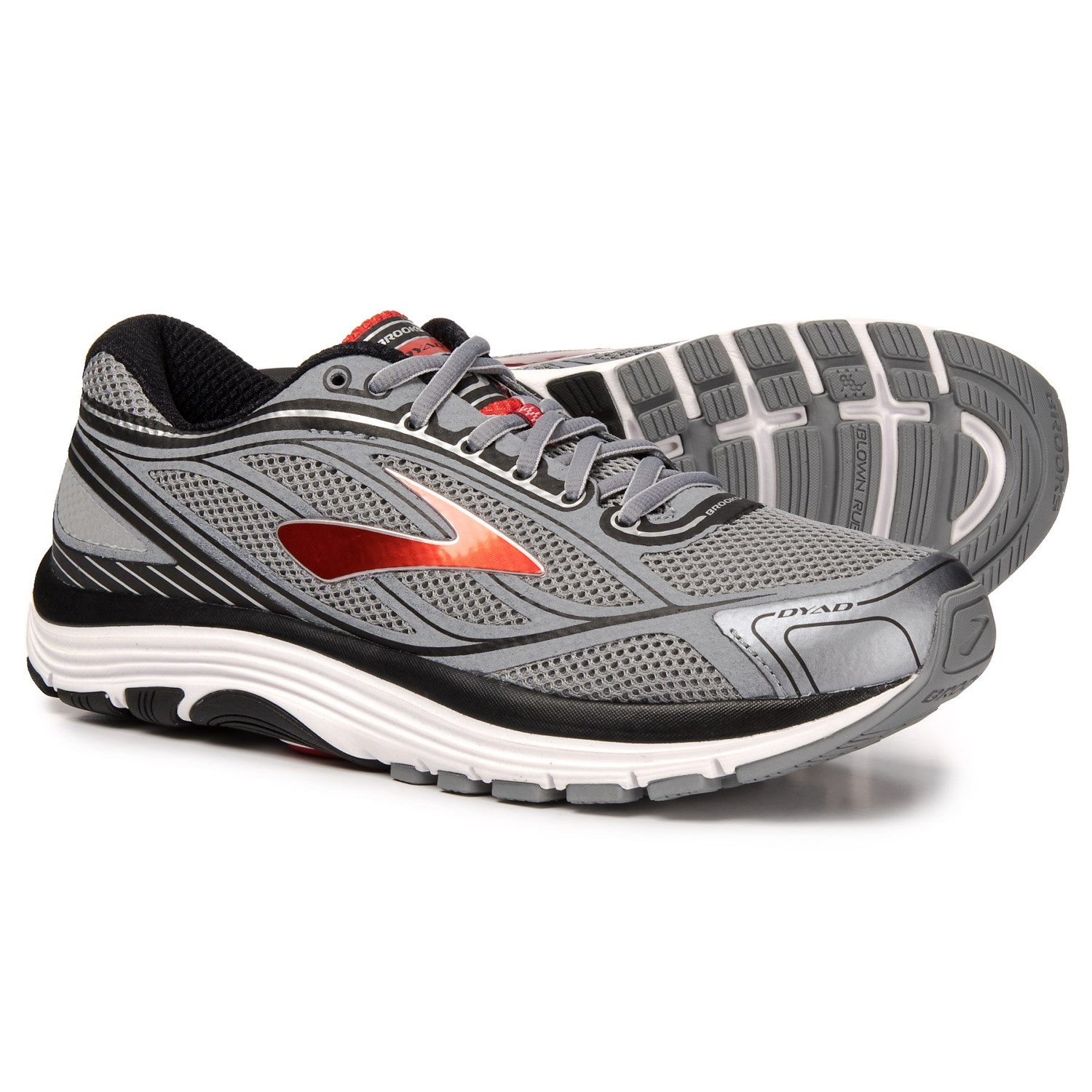 a2634104a30 Brooks Dyad 9 Running Shoes (For Men) in Primer Grey High Risk Red