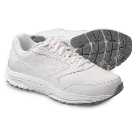 Brooks Dyad Walker Walking Shoes - Leather (For Women) in White - Closeouts