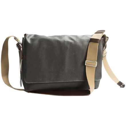 Brooks England LTD. Barbican Messenger Bag in Grey/Honey - Closeouts
