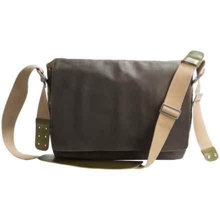 Brooks England LTD. Barbican Messenger Bag in Mud/Olive - Closeouts