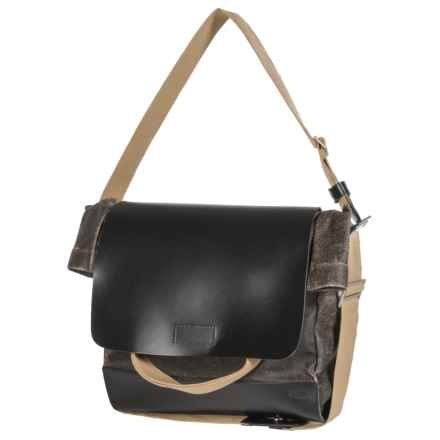 Brooks England LTD. Brixton Casual Satchel in Asphalt/Black - Closeouts