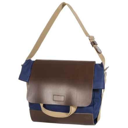 Brooks England LTD. Brixton Casual Satchel in Blue/Choco - Closeouts