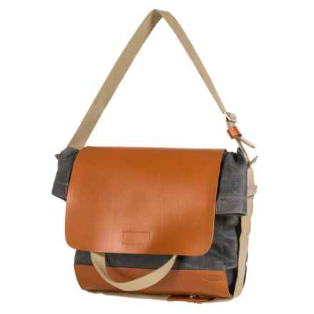 Brooks England LTD. Brixton Casual Satchel in Grey/Honey - Closeouts