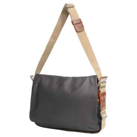 Brooks England LTD. Paddington Messenger Bag in Grey/Honey - Closeouts