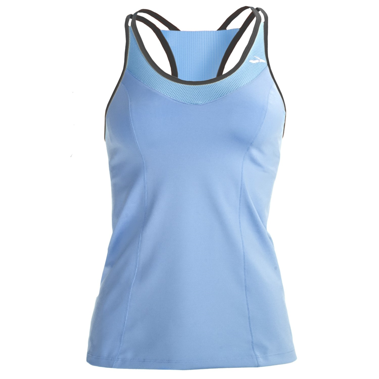 Brooks epiphany ii support tank top built in high impact for Shirts with built in sports bra