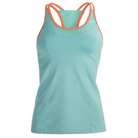 Brooks Epiphany II Support Tank Top - Built-In High-Impact Sports Bra (For Women) in Midnight/Helium